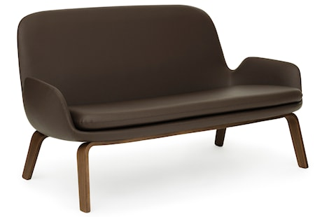 Normann Copenhagen Era sofa walnut - Walnut tango leather