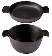 Grytstapel 2 delar - Gryta 3,0 liter + Omelettpanna 23 cm