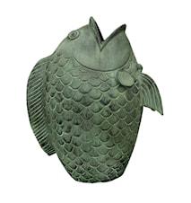Fisk med öppen mun, 52 cm, grön