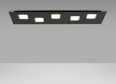 Fabbian Quarter LED 5 Loftslampe Sort thumbnail