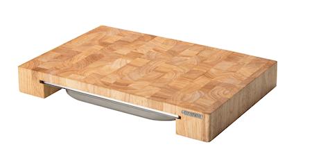 Continenta Leikkuulauta ja laatikko kumipuuta 48x32x6 cm