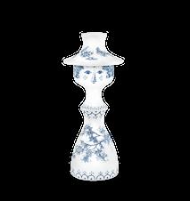 Ljusstake, Felicia, dammblå, 19,5 cm