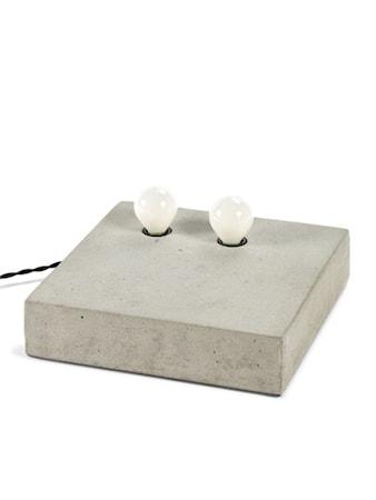 Bords/Vägglampa Dubbel Cement 25x25