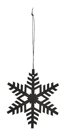 Hängande Dekoration Snöflinga Svart