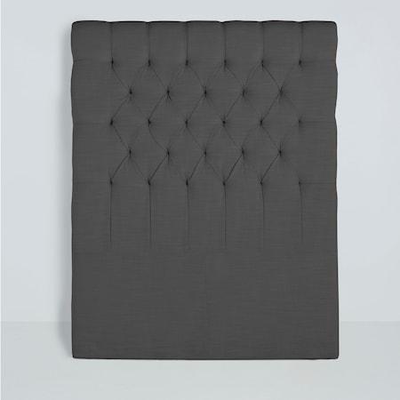 Mille Notti Paula sänggavel linen - Mörkgrå, 90 cm