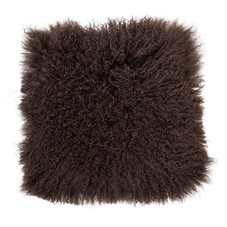 Bloomingville Istuintyyny Ruskea mongolialaista lampaannahkaa 40x40 cm