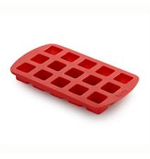 Pralinform kub röd
