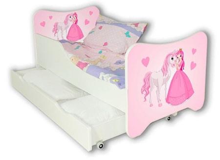 Cool beds Princess and horse juniorsäng med låda
