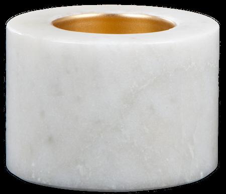 Svensk Marmor Värmeljushållare Vit marmor 5,5 cm Ø 7 cm 2-pack