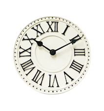 London Bordsklocka Vit 16 cm