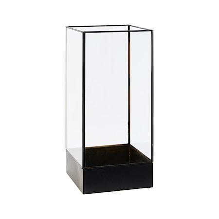 Plant Displaylåda Svart/Glas Rektangulär
