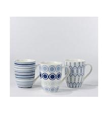 Krus Luna blå 37cl  keramik