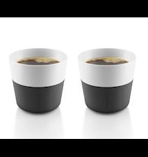 Lungo Kaffemugg Svart 2-pack