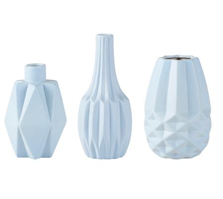 Bilde av KJ Collection Vase Keramikk Lyseblå 12 cm