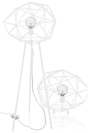 Bilde av Globen Lighting Gulvlampe Diamond Hvit
