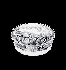 Dosa med lock, Aida, silver, Ø12 cm