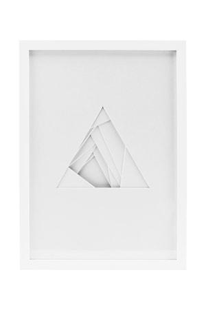 Väggdekoration Relief Triangel 30x42 cm Vit