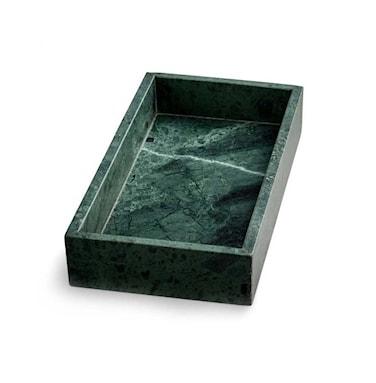 Grön Marmorbricka med kant 30 x 15 cm