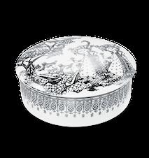 Dosa med lock, Mascarade, silver, Ø16 cm