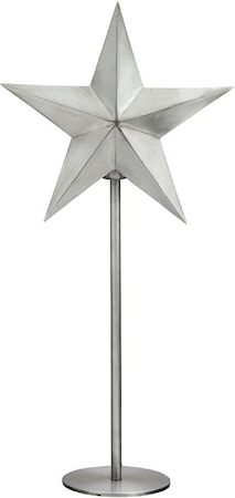 Nordic Star on base Pale silver 76cm
