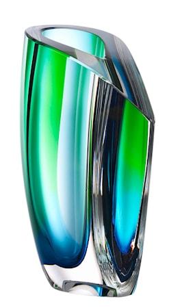 Bilde av Kosta Boda Mirage Grønn/Blå Vase 21 cm