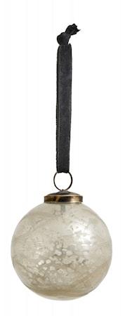 Nordal Julgranskula Silver Glass Small