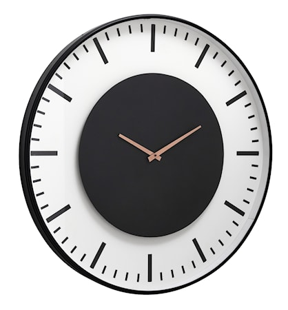 Wall clock, train station, black circle