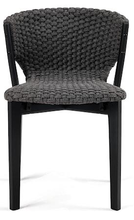 Ethimo Knit stol - Black mahogany