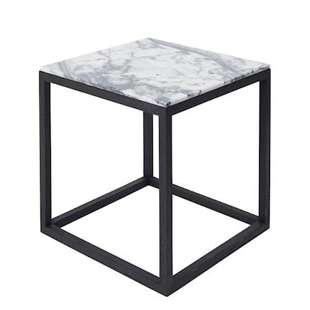 Kristina Dam Studio Cube Sidobord Small Marmor - svart/tigerskin