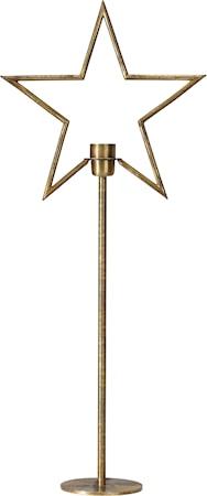 Tindra Stjärna på Fot Råmässing 82cm