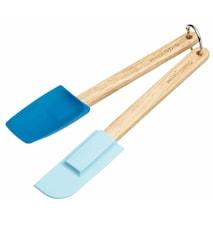 Sked/Slickepott Silikon 2-pack Blå 20,5 cm