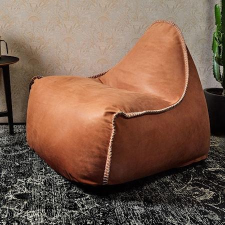 SACKit RETROit Dunes Läder Sittsäck - Rust