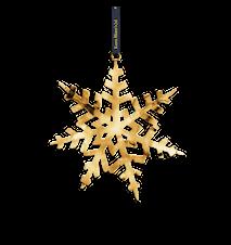 Kristall-stjärna, 18 cm, förgyllt
