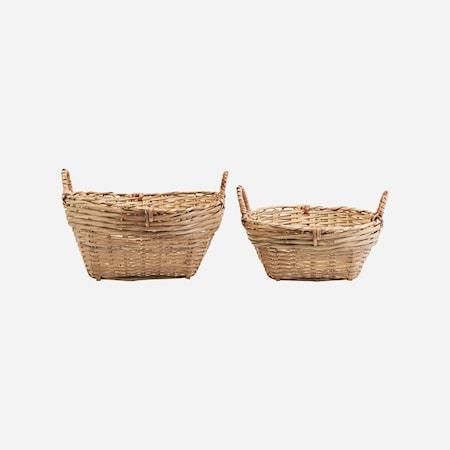 Korgar Set med 2 storlekar Bambu h: 20 cm & h: 15 cm