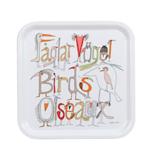 Fåglarna berättar Bricka 32x32 cm