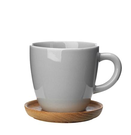 Höganäs Keramikk Kaffekrus + Trefat 33 Cl Grå Blank 732a16340cb6f
