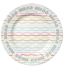 Melamine Cake Platter in Happy Birthday Print