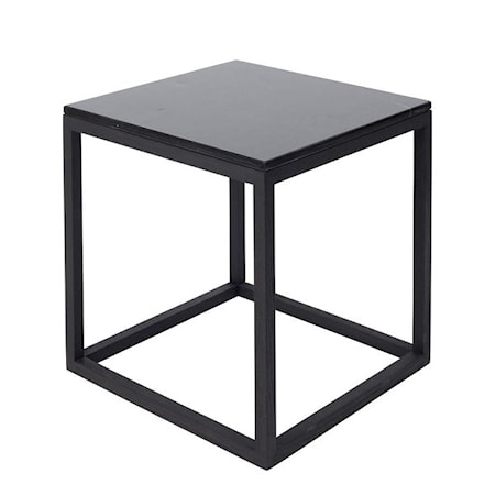 Kristina Dam Studio Cube Sidobord Small Marmor - svart/svart thumbnail