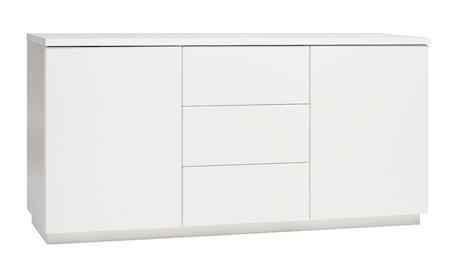 Hiipakka Sonaatti skänk - 150 cm - vit/vit