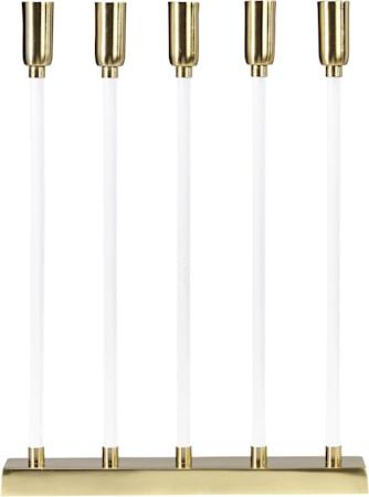 Raw Candle 5 Flat Vit/Guld 32cm