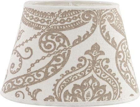 Bilde av PR Home Oval Lampeskjerm Lin Flora 25cm