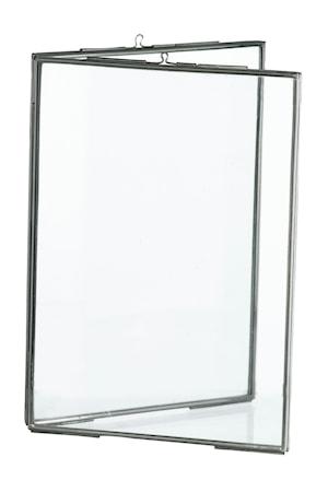 Madam Stoltz Tupla Valokuvakehys 13x18 cm - hopea