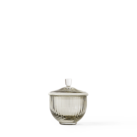 Bonbonjär Munblåst Glas Smoke Ø8 cm