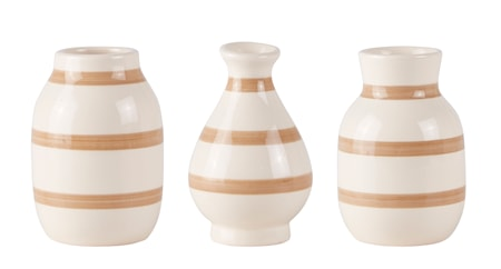 Bilde av KJ Collection Vase Stripete Pudder 10 cm