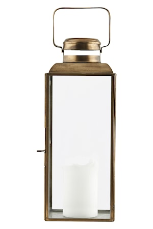 Ljuslykta Vintage 36 cm Mässing