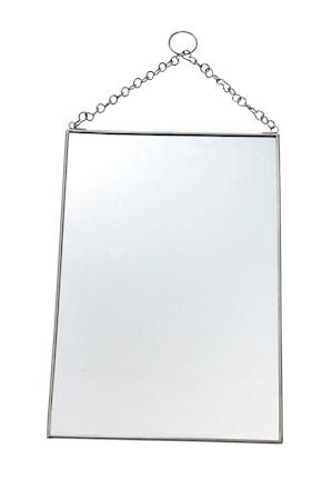 Madam Stoltz Roikkuva Peili 20x30 cm - hopea