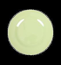 Assiett Melamin Mintgrön