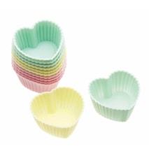 Mini Cupcakde-formar Silikon Hjärta 12-pack 3,5 cm