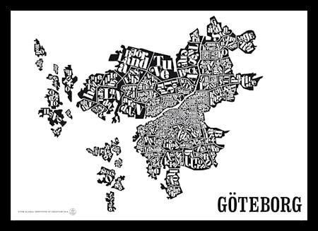 Bilde av TGIOC Göteborgskartet poster
