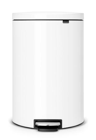 Brabantia Flatback + poljinroskis Valkoinen 40 L
